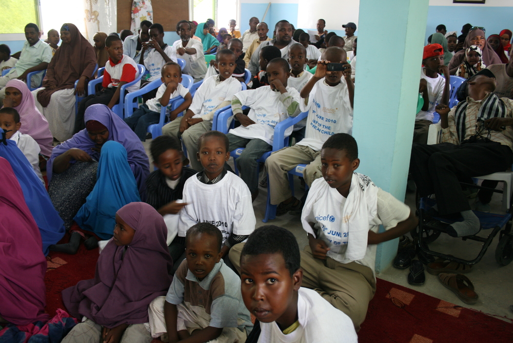 Children at the Disability Action Network (DAN) hall during celebrations to mark the Day of the African Child on 26 June 2010 in Hargesia, capital of Somaliland