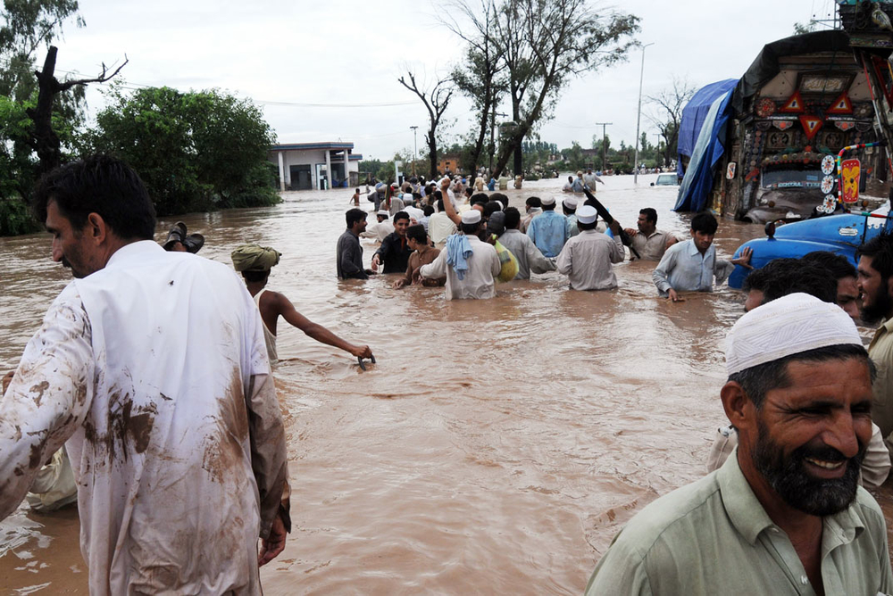A submerged street near Nowshera, Kyhber-Pakhtunkhwa province. Rising water in dams could create more havoc