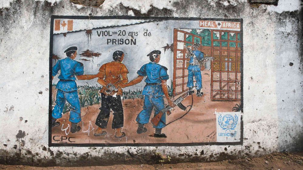 Poster in Goma, eastern DRC, warning of the penalties for rape