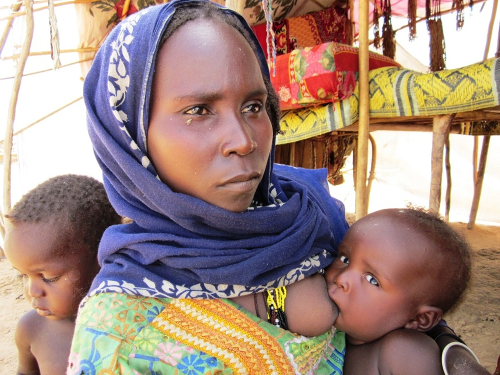A woman and her children in western Chad, where malnutrition rates far surpass the international emergency threshold according to a July-August 2010 study