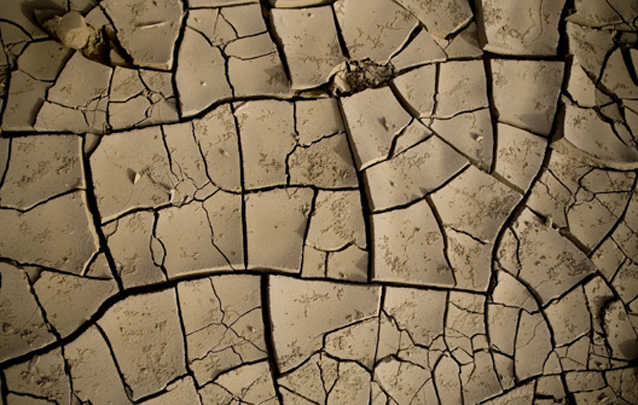 Dry earth in the desert plains of the Danakil depression in northern Ethiopia. For generic use, keywords: drought, famine, dry