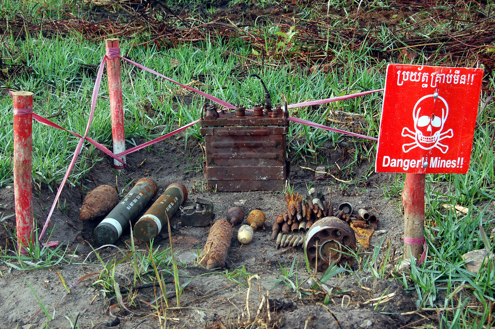 Landmines and UXOs continue to litter much of the Cambodian countryside