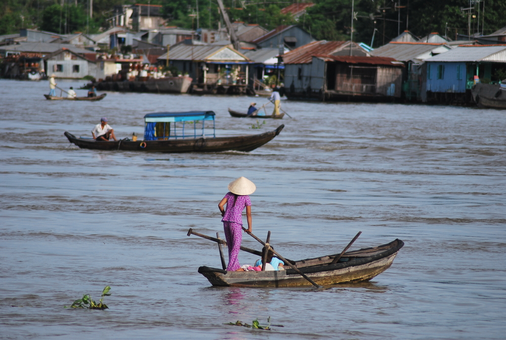Along the Mekong River. Water and sanitation remains a key challenge in Vietnam