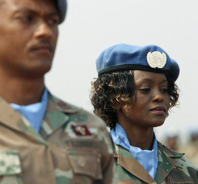 Captain Angela Koesnel, a level 1 nurse with the South African peacekeeping contingent in Burundi