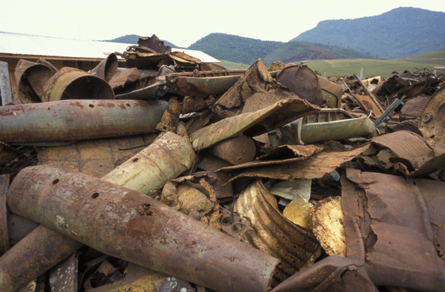 UXO debris in Laos where a new Millennium Development Goal aims to rid the country of undetonated explosives
