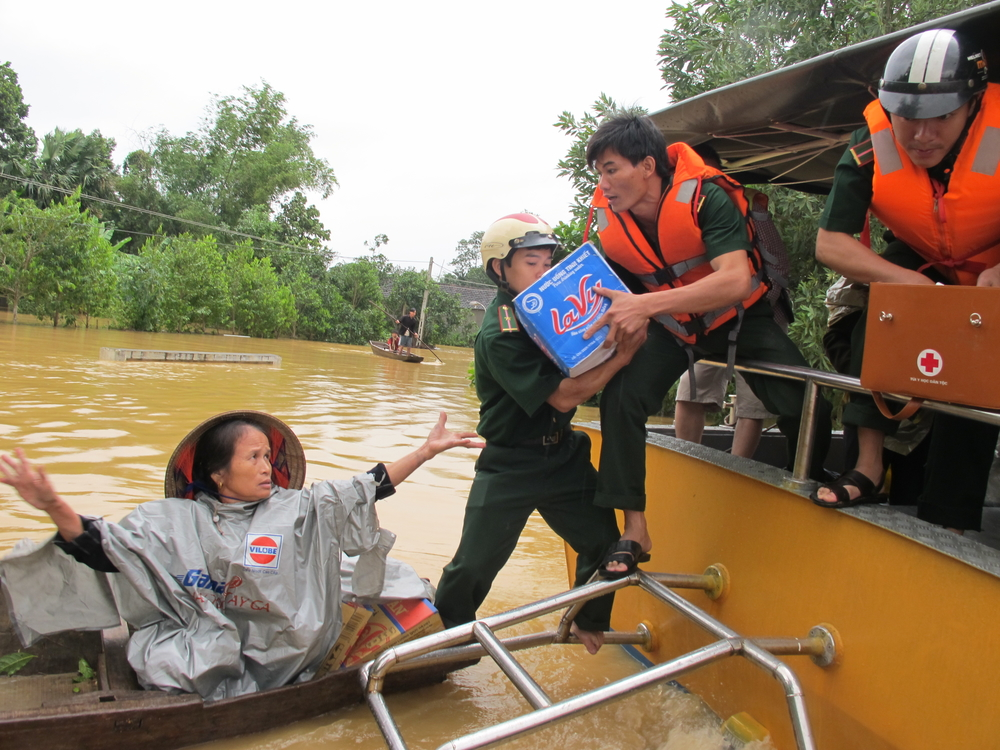 Hundreds of thousands of people were affected by two bouts of heavy flooding in October 2010 in Central Vietnam