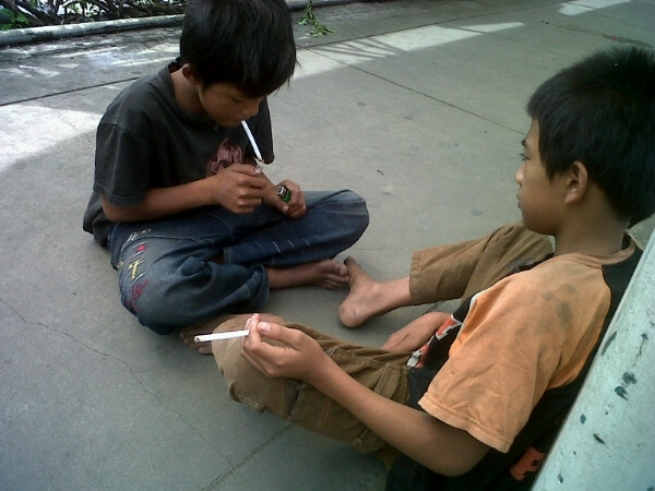 A higher percentage of youths smoke here in Indonesia than anywhere else in the world