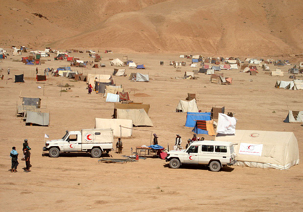 Afghanistan Red Crescent medical camp in Cheshma-e-Shafa, northern Afghanistan