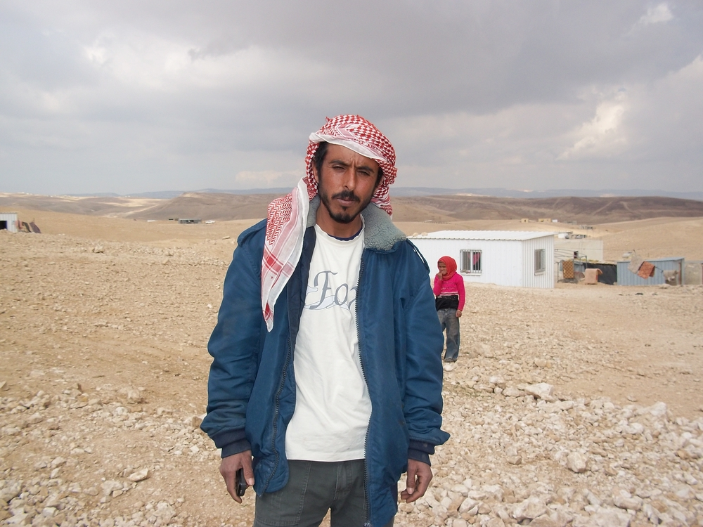 """My cistern was bulldozed by Israeli authorities without warning in December,"" says goat herder Saleem Hadaleen, 32-years old from Khashem ad-Daraj in south Hebron. About 1,200 people live in his herding community"