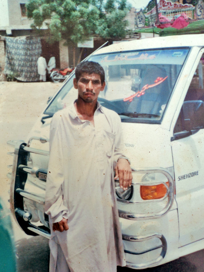 Raham Ali, a disabled beggar who was kidnapped in Karachi