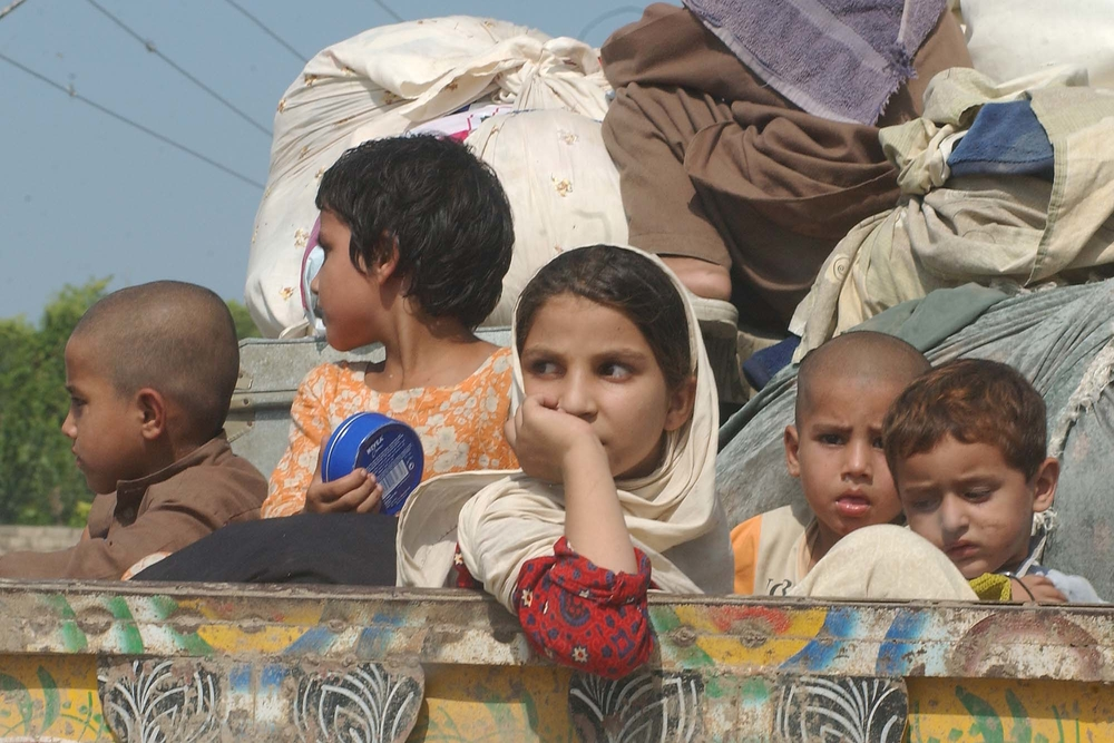 Thousands of people have fled Kurram Agency on trucks, vans, tractors and other vehicles as the new offensive continues