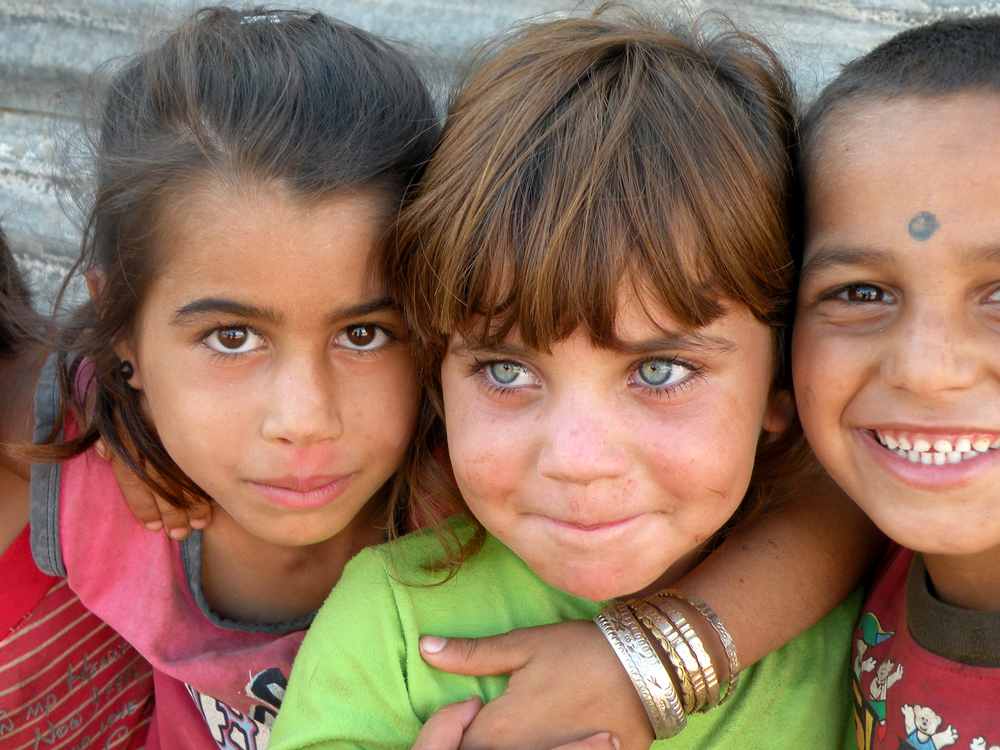 Children from Lebanon's Dom community