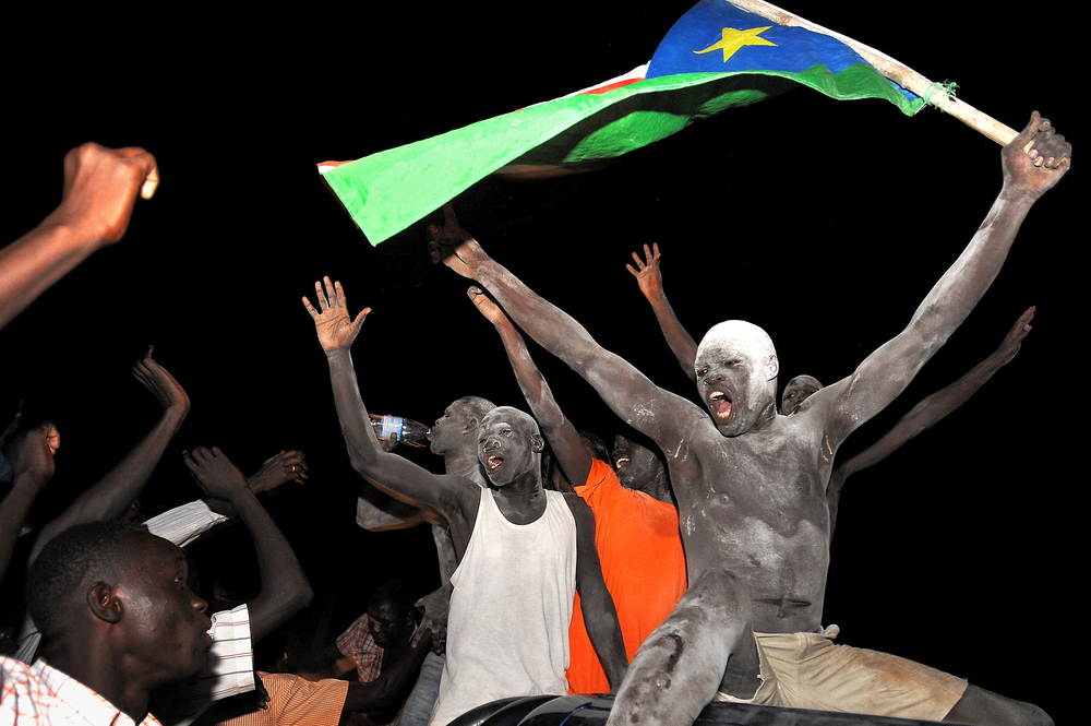 People show their euphoria, as the Republic of South Sudan proclaims its independence