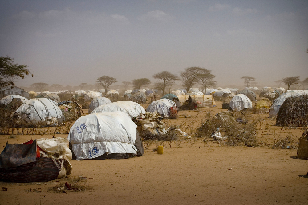 Temporary homes at Dagehaley camp, one of three camps that make up the Dadaab refugee camp in north eastern Kenya