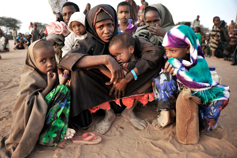 Newly arrived refugees at Dadaab refugee camp, eastern Kenya. For generic use