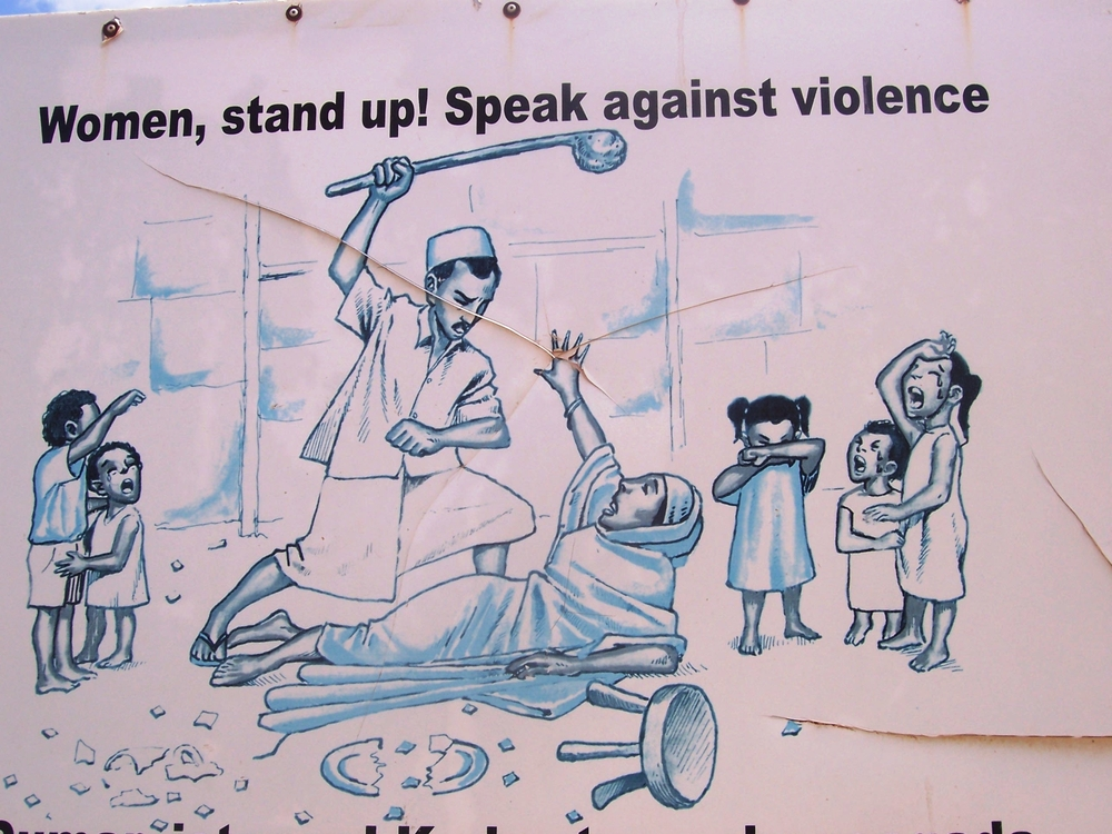 A poster raising awareness at norteastern Kenya's dadaab Refugee Camp