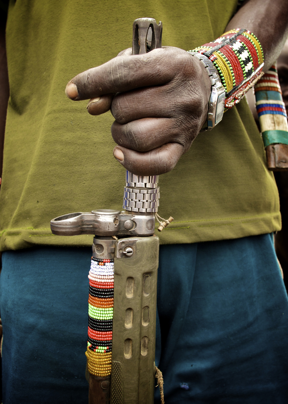 A weapon belonging to a Toposa warrior from South Sudan