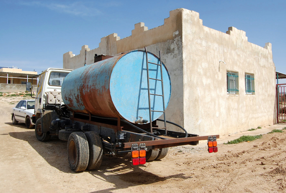 The Bedouins in Umm al-Hieran village, Israel, live several kilometers away from the closest source of clean water and rely on trucks to get their supply