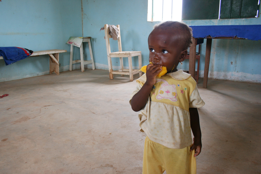 Child at an out-patients therapeutic feeding centre for severely malnourished children in Katsina,  Nigeria, June 2012