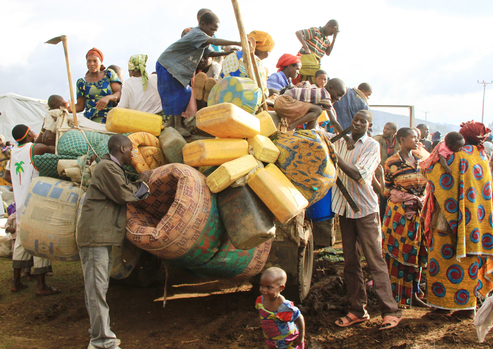 The Congolese refugees on arrival at Nyakabande transit centre, Kisoro district in May 2012. Thousands of the refugees have again crossed into Uganda following renewed fighting that broke out on 6 July 2012 in eastern Democratic Republic of Congo, Kivu pr