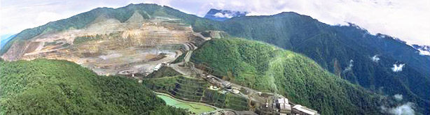 Ok Tedi cooper mine in Papua New Guinea