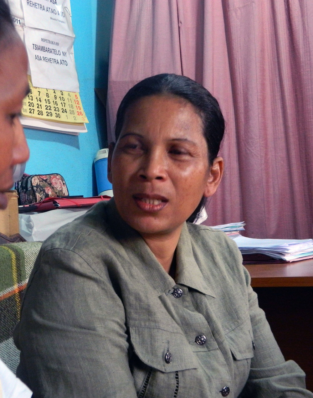 Esther Vololona Razazarivola, head of the legal aid clinic in Manjakandriana, Madagascar