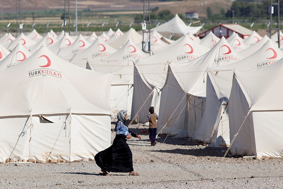 Islahiye camp for Syrian refugees in southern Turkey