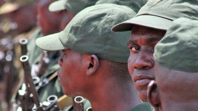 Soldiers of the Central African Republic's armed forces