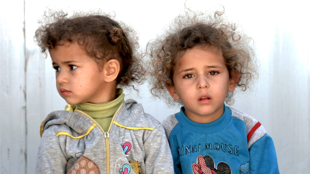 Refugee children at Nizip camp for Syrian refugees in southern Turkey
