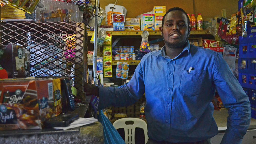 Abdullahi Wehliye's shop in Philippi township in Cape Town has been robbed seven times since 2010. During one occasion in 2012, his brother was shot and killed
