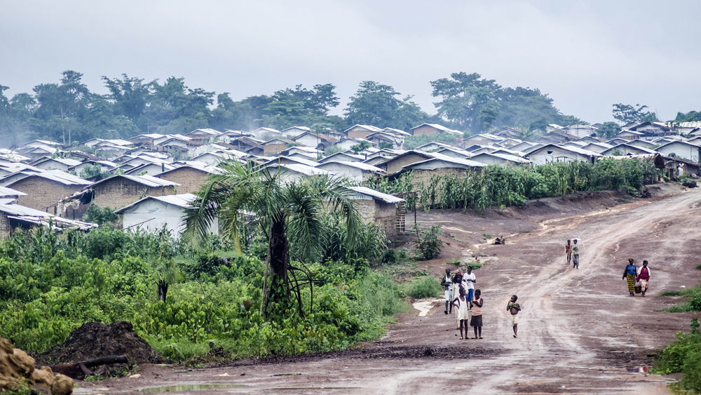 Refugees from Cote d'Ivoire living in PTP Camp, east Liberia