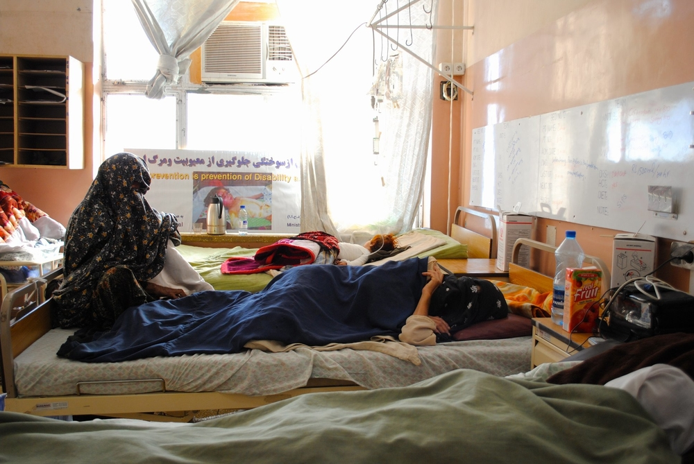 The women's ward at Mirwais regional hospital in southern Afghanistan's Kandahar city