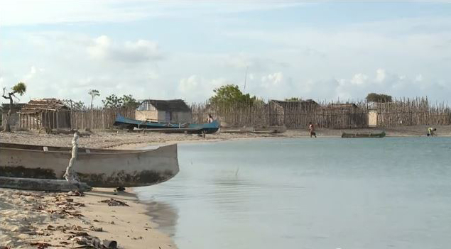 Madagascar beach with boats
