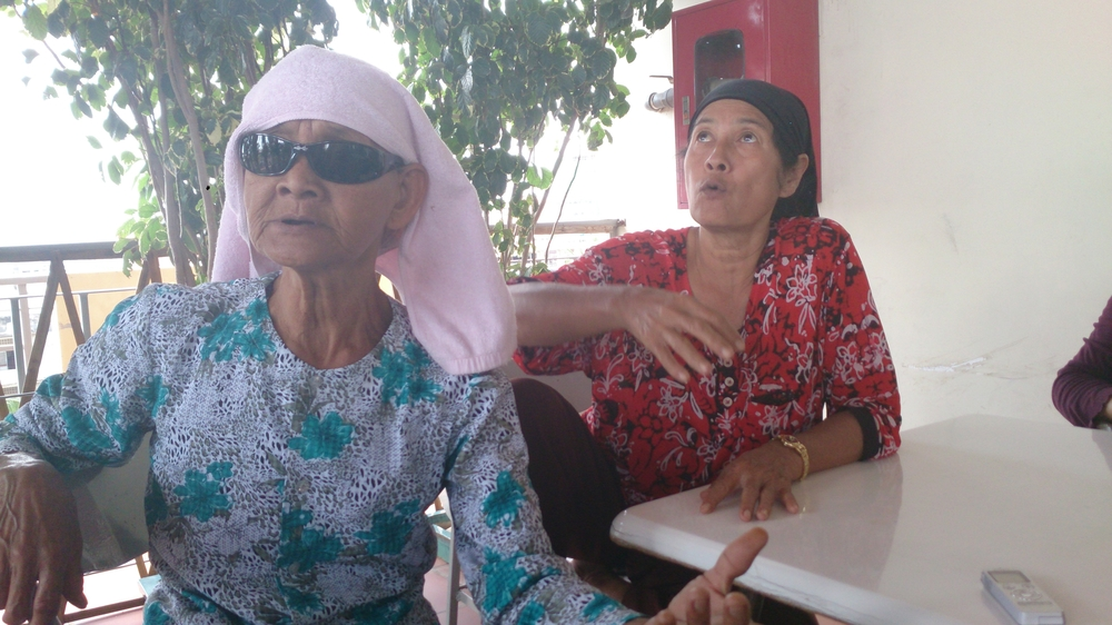 Rys Yamlas, 70 (L) and her cousin on the right were both raped under the Khmer Rouge regime. Rys testified in a special hearing hosted by a local NGO to give voice to survivors of sexual violence
