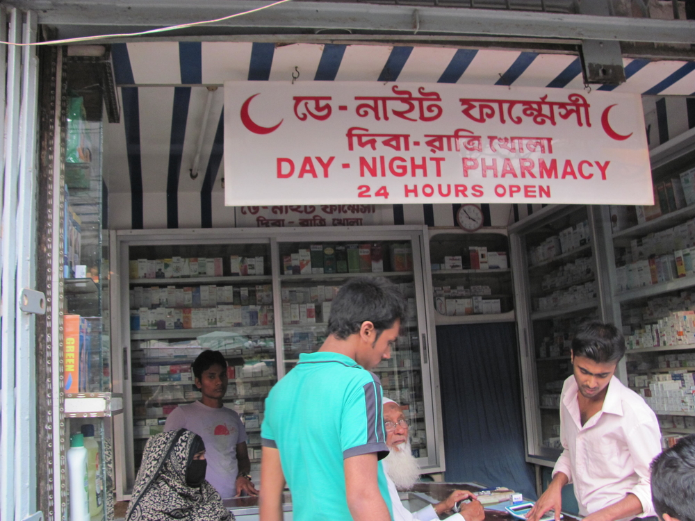 Near 10 percent of pharmaceutical sales in Bangladesh may be linked to counterfeit or sub-standard contraband medicine, outlawed, but still flowing, especially in the country's tens of thousands of unlicensed pharmacies