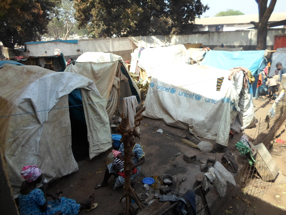 Thousands of people are camped out in the grounds of the Catholic archdiocese in the northern CAR town of Bossangoa