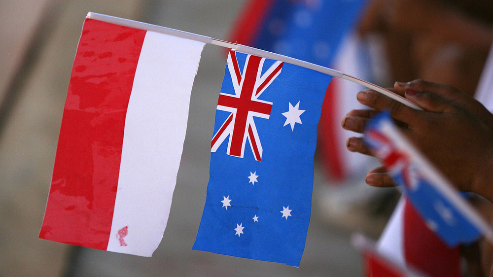 Australian and Indonesian flags