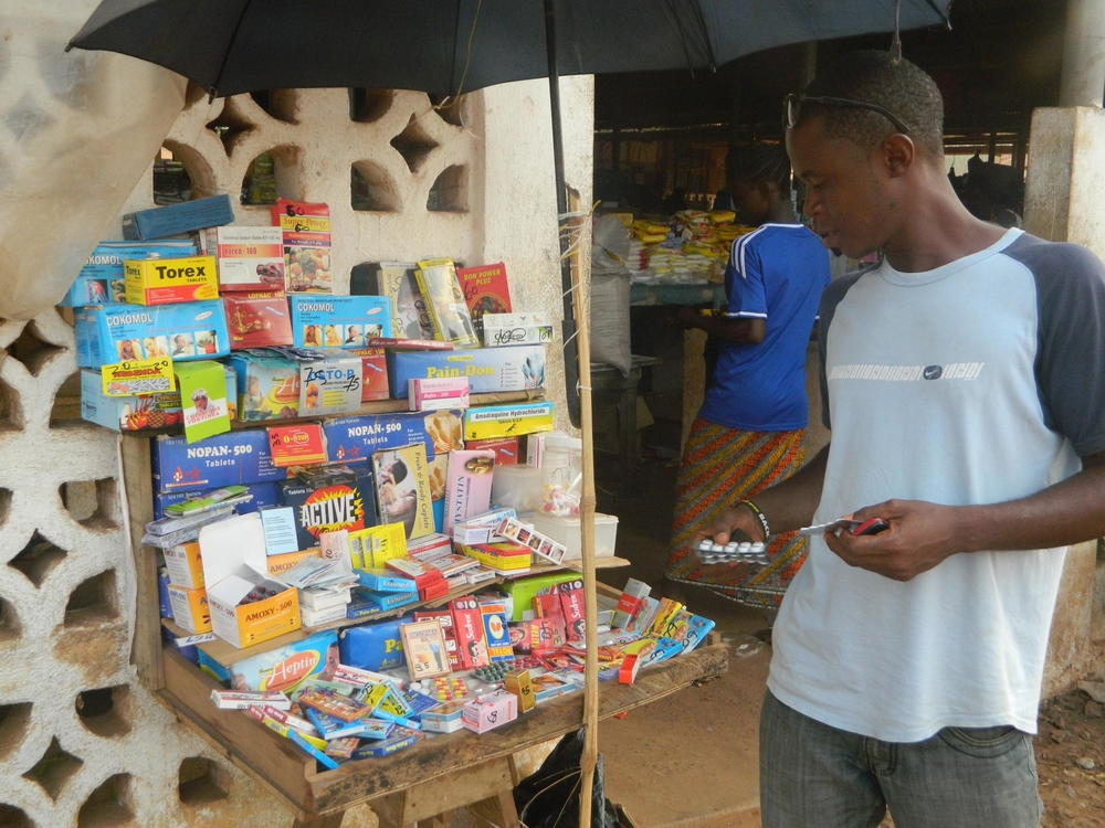Fake drugs sold in the streets of Liberia's capital Monrovia.