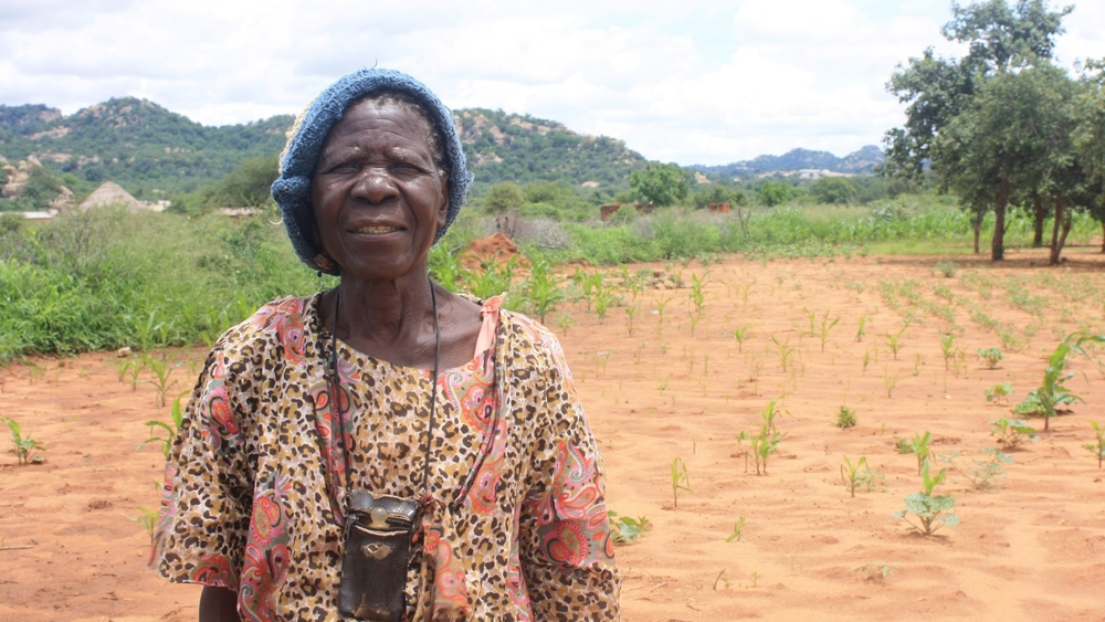 Ratidzo Chirumwana, 88 year-old resident of Zvishavane  district in Zimbabwe's Midlands province, where poor rains have led to a poor maize crop