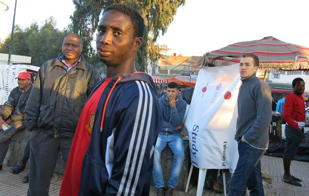 Migrants on the streets of Rabat, the Moroccan capital, vie with locals for casual labour jobs