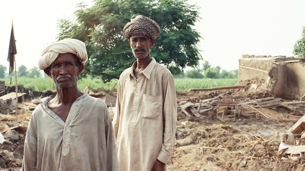 Bashir Ahmed (right) and his brother Mohammad Shafia lost everything in Pakistan's floods. Over 2.5 million people have been affected since heavy rains began in early September.