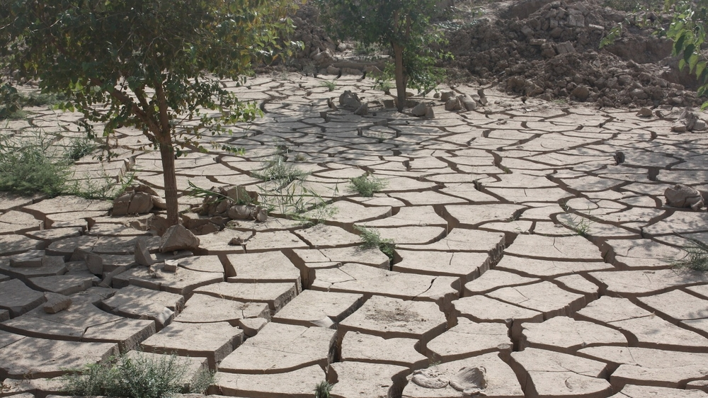 Parched earth following a drought in northern Afghanistan. The region has been hit by increasingly unpredictable weather, with most experts agreeing it is an effect of climate change.