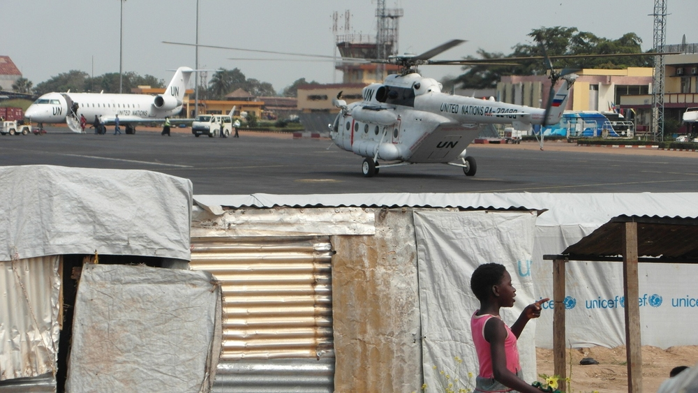 M'Poko camp for displaced people, adjacent to Bangui's international airport