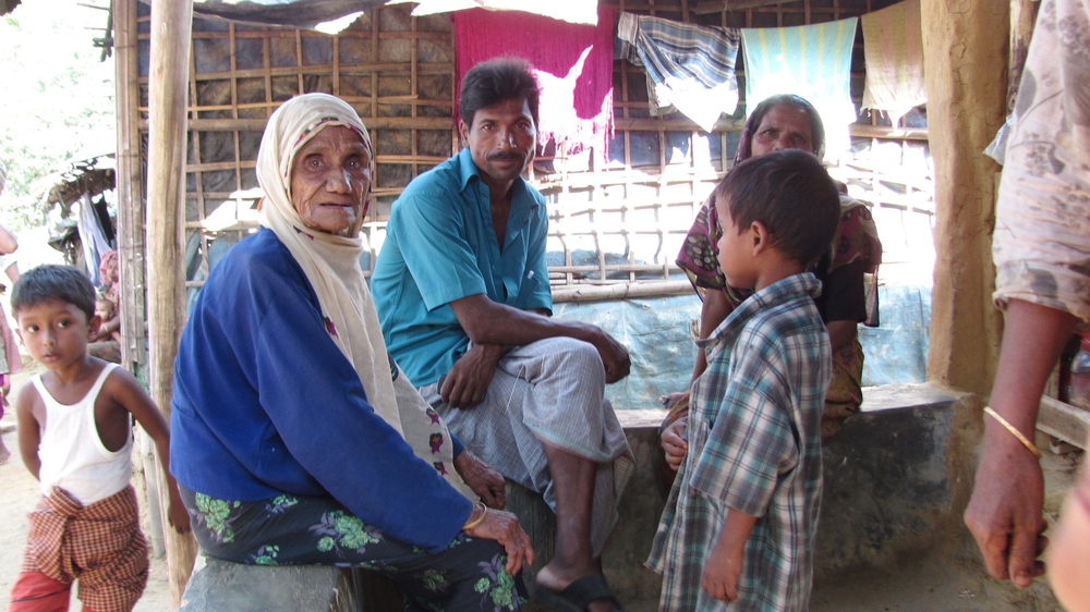 Unregistered Rohingya refugees discuss the various rumors of their relocation that they have heard.