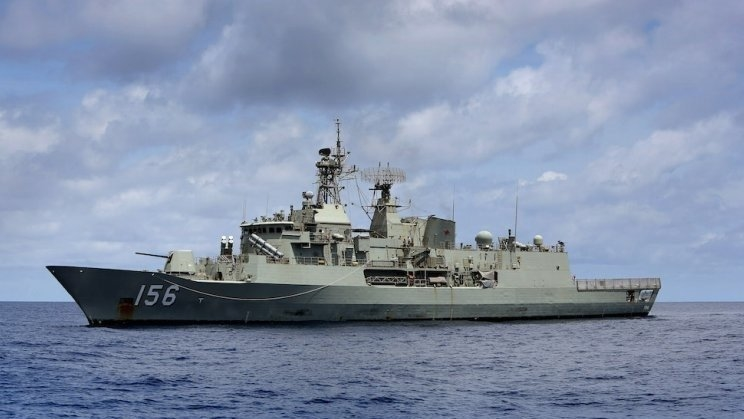 Royal Australian Navy on maritime security deployment in