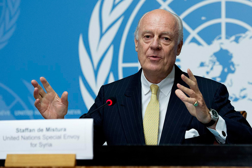 Staffan de Mistura, the UN's special envoy to Syria, has been pushing for temporary ceasefires in key cities