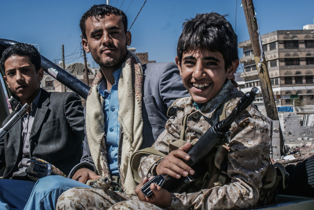Child soldiers are common in Yemen, with the Houthis among several groups to use them