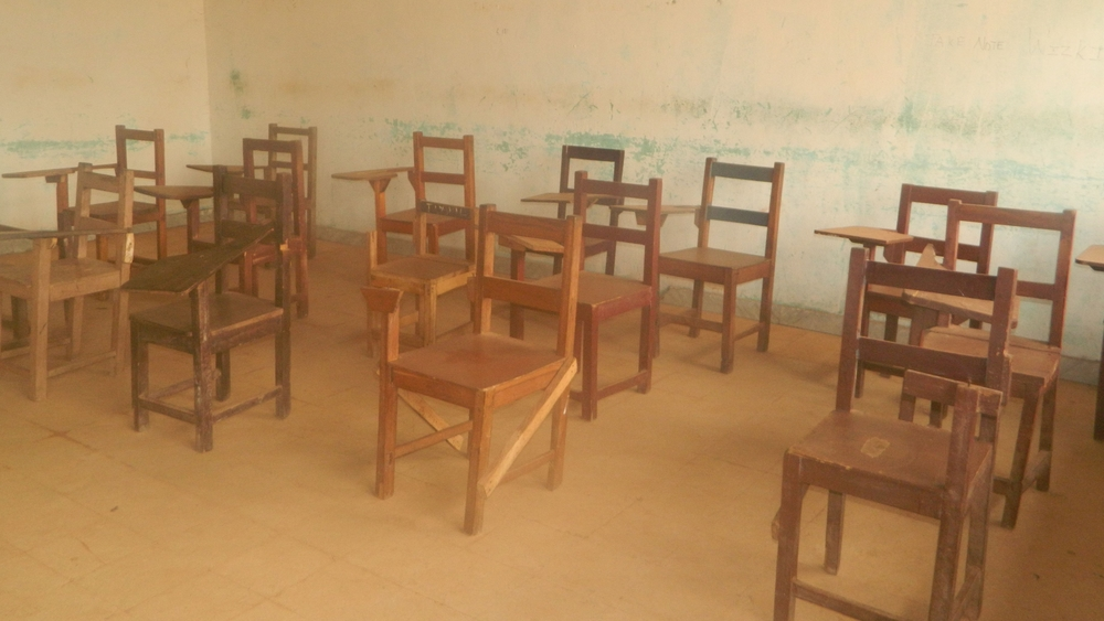 Classrooms remain empty in Liberia following nationwide shutdowns due to the Ebola outbreak.