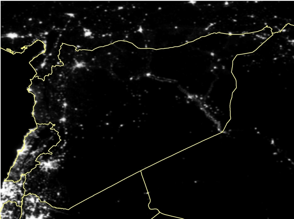 A series of photos released in March 2015 showed how over 80 percent of Syria's lights have gone out since the war began in 2011