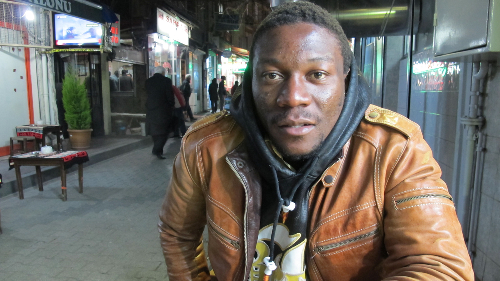Frank, a Cameroonian migrant, has struggled to find work in Istanbul